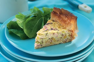 Basil, Bacon and Corn Pie | Savory Pizzas, Pies & Tarts | Pinterest