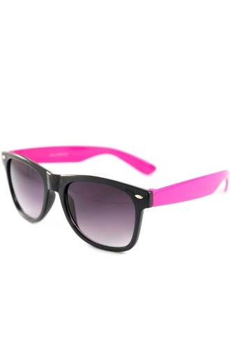 79c0e352b9c Neon Pink Wayfarer Sunglasses