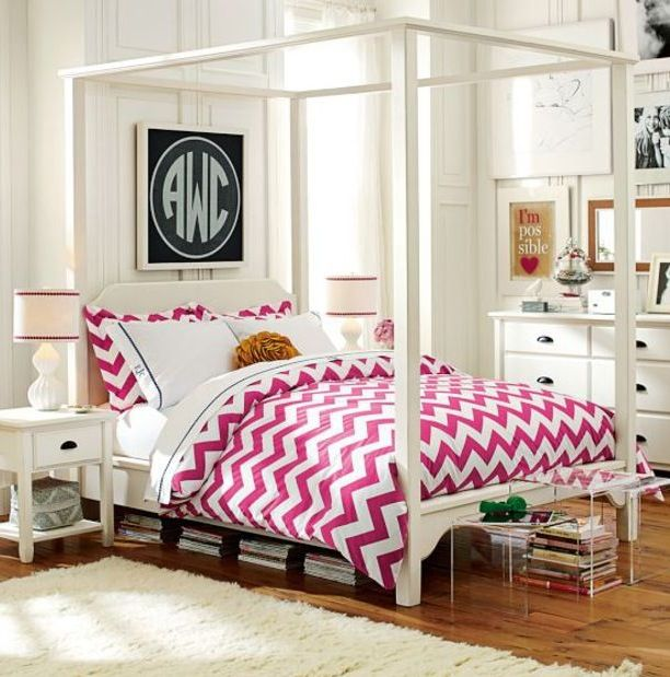 Chatham Canopy Bed Pb Teen Girl 39 S Fave 39 S Pinterest