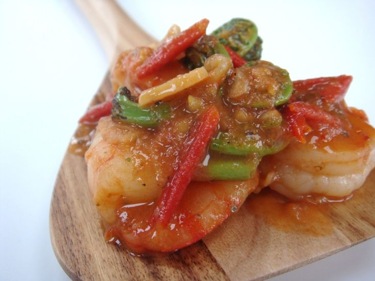 Shrimp Fiddleheads & Tomoto Scampi | Seafood | Pinterest