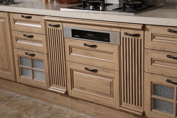 Oven cabinet oppein line type kitchen cabinet with pp finish model