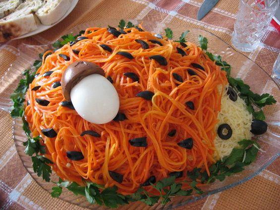 Закуски и салаты на день рождения