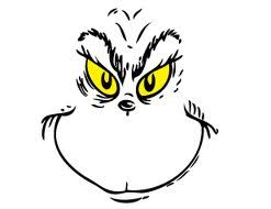 It is an image of Superb Free Printable Grinch Face Template