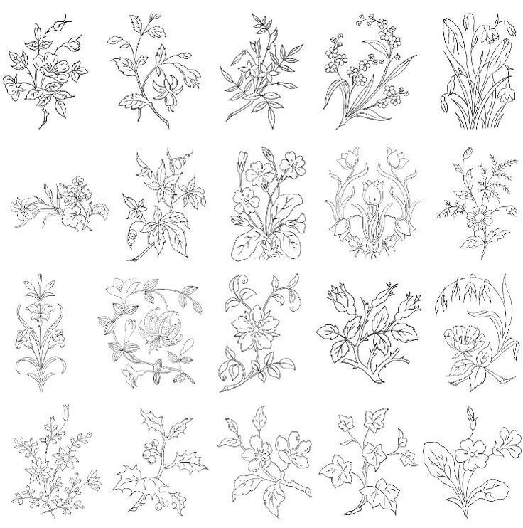Flower embroidery patterns crafts pinterest