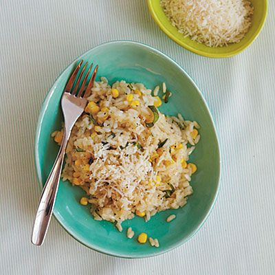 Risotto with Corn and Basil | Sustenance | Pinterest