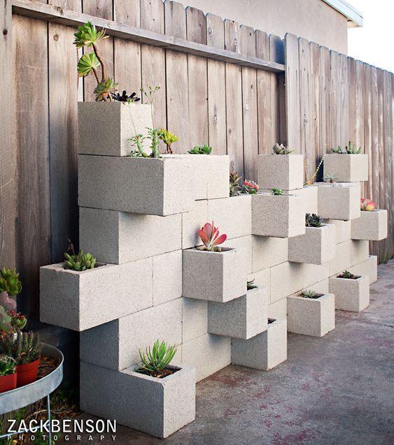 Cinder Block Wall Backyard : easy garden cinder block wall  Home ideas  Pinterest