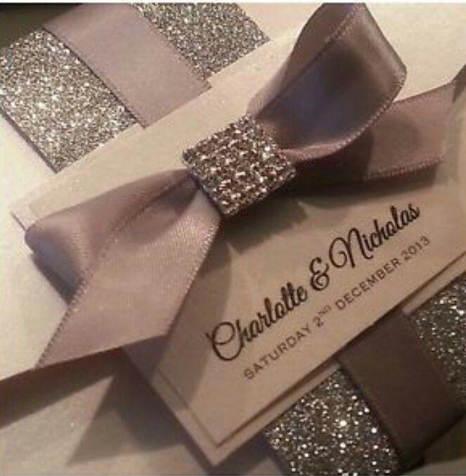 Elegant Wedding Invitations With Crystals: Pin By Vanessa Valdez On Wedding Ideas