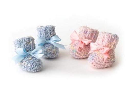2-needle Baby Booties by Lion Brand Yarn Babytastic Pinterest