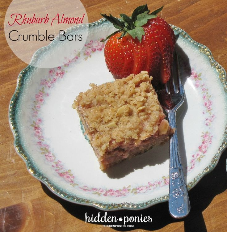 Mom's Recipes: Rhubarb Almond Crumble Bars