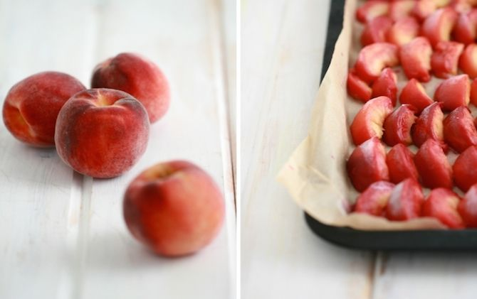 Check out this simple & summery peach sorbet recipe! Thanks @ ...