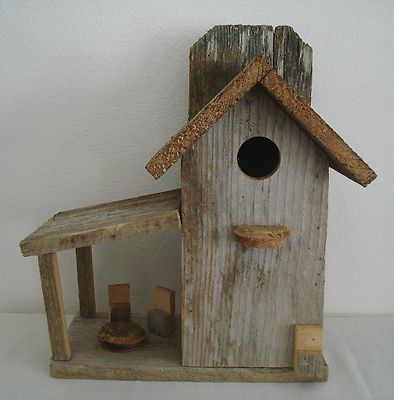 Unique rustic handmade wood birdhouse upcycled wooden project for Birdhouse project
