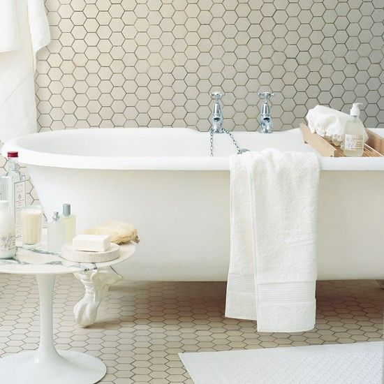 Hex Tiles Flooring For Small Bathrooms Bathroom Pinterest