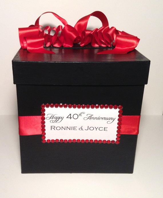 Birthday Cards Box ~ Square wedding birthday card box
