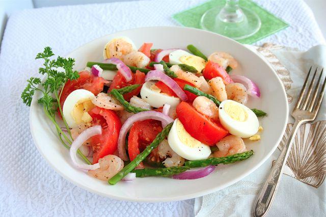 Asparagus shrimp salad | Low Carb Food Stuff | Pinterest