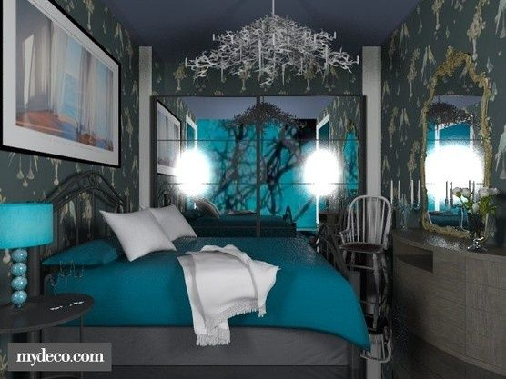 Turquoise Grey Bedroom For The Home Pinterest