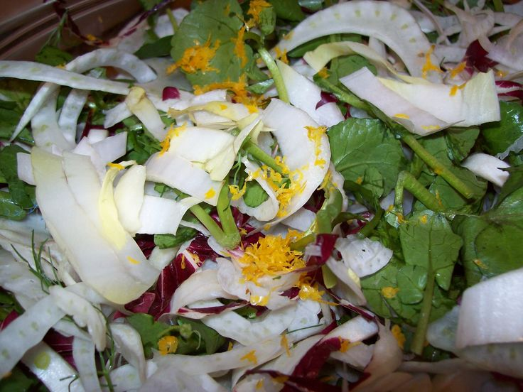 Add Myer lemon zest Endive, Radicchio, Fennel, and Watercress Salad