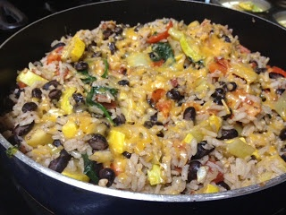 Chicken, black bean, zucchini, rice skillet! Easy meal for a weeknight ...