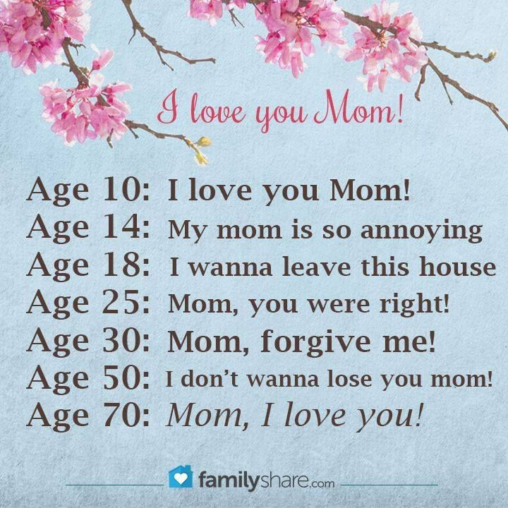 I Love You Quotes Pinterest : Love You Mom!