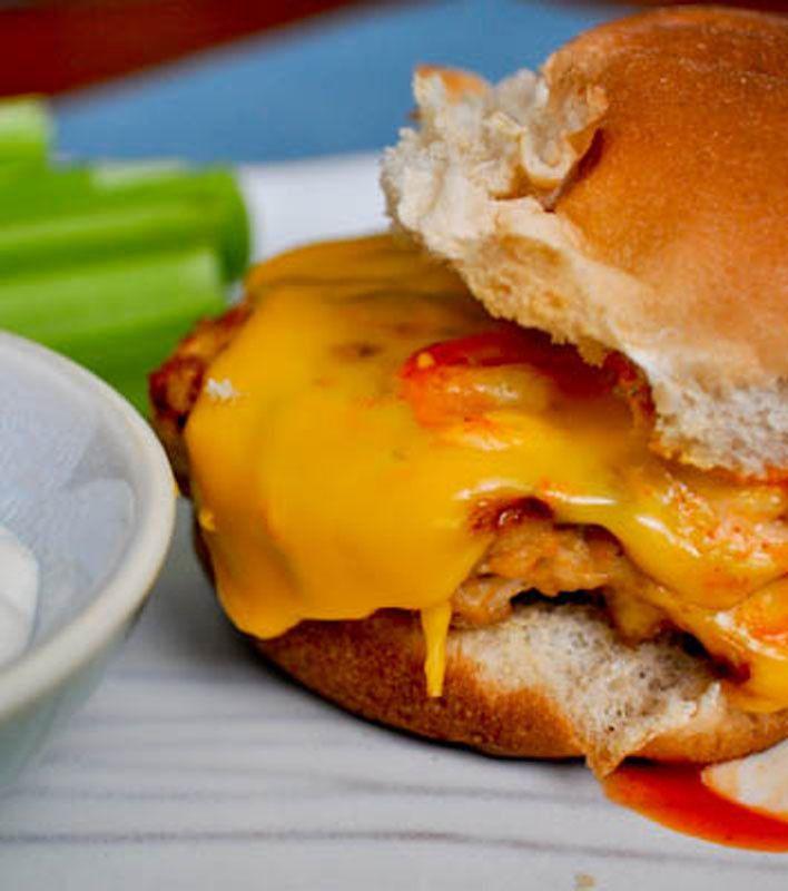 Buffalo Chicken Burgers | Food - Sandwiches & Wraps | Pinterest