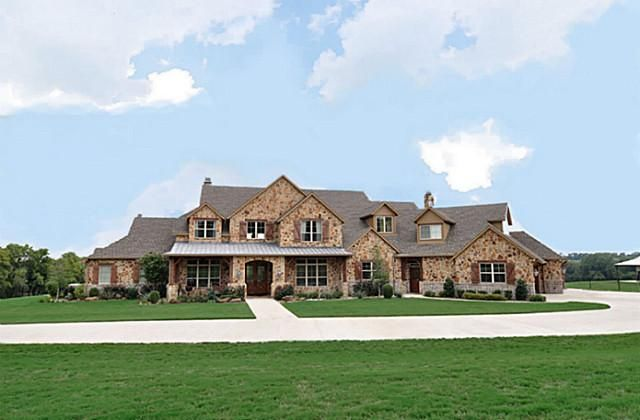 Luxury ranch home in mckinney texas house pinterest for Ranch style home builders in texas
