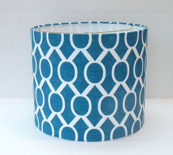 medium drum lamp shade in turquoise blue and by lampshadedesigns 90. Black Bedroom Furniture Sets. Home Design Ideas