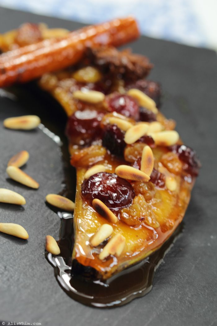 Fried banana with nuts & raisins… just add #Rum Country Fresh!