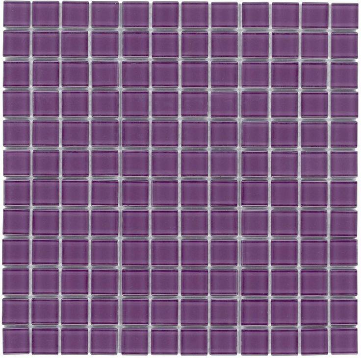 mineral tiles glass mosaic tile backsplash purple 1x1 http