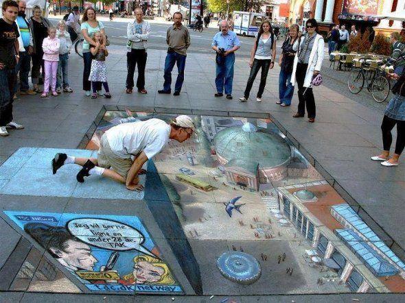 3d floor art chalk art 3d street art pinterest