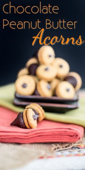Chocolate Peanut Butter Acorns | Holiday Fun | Pinterest