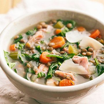 ... ham is combined with other foods! Lentil-Ham Soup for the slow cooker