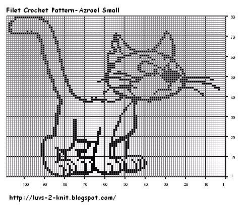 images of free crochet filet charts Filet Crochet Pattern Azrael