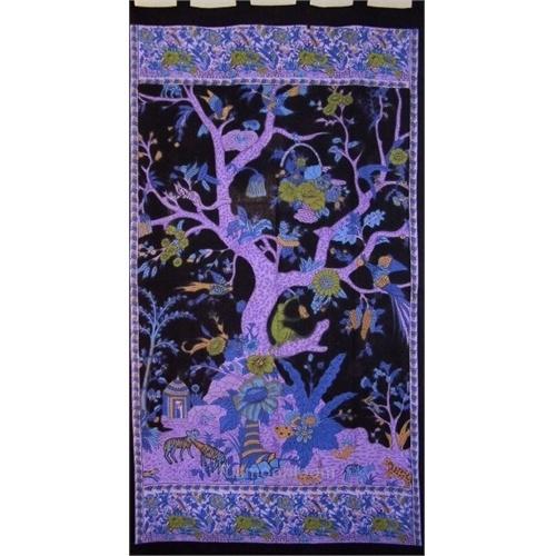 purple tree of life wall hanging | tent decor | Pinterest
