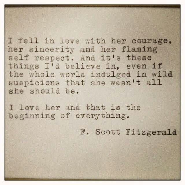 F Scott Fitzgerald Love Quotes Fitzgerald Love Quotes...