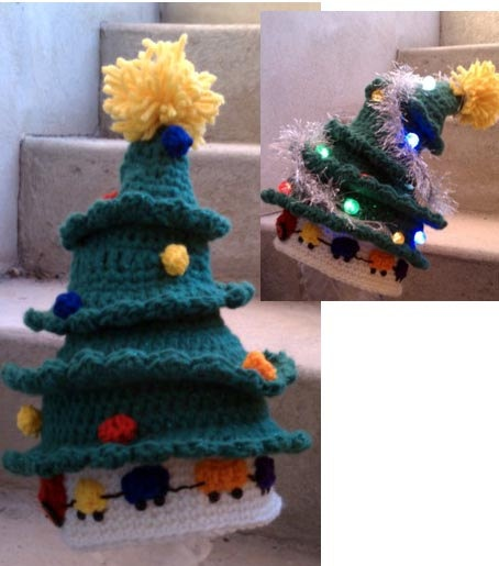 Christmas Tree Hat Crochet Pattern Fun Sewing Projects ...