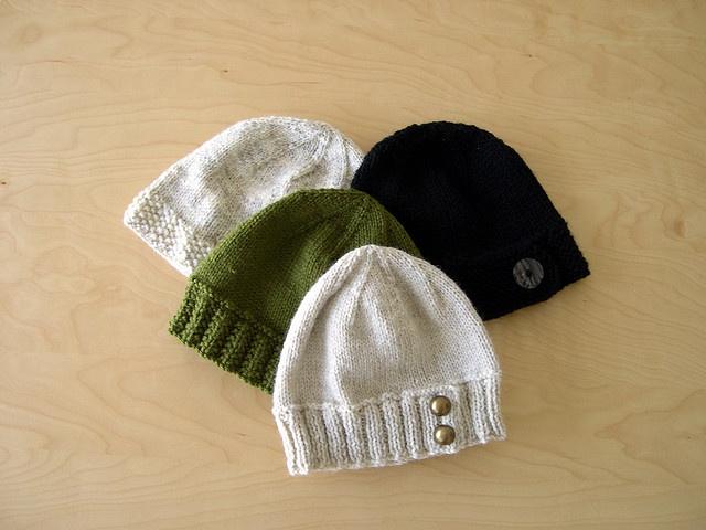 Knitting Pattern Hat With Button : button tab hat. free pattern. knit crochet Pinterest