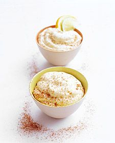 Orange-Lime Mousse. Homemade citrus curd -- a mixture of eggs, sugar ...