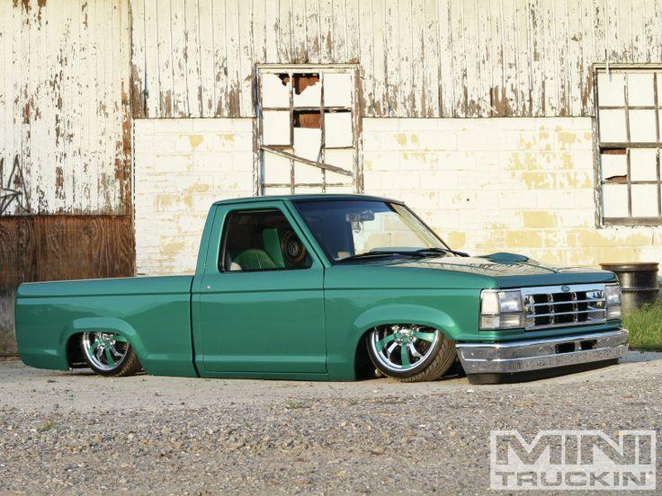 lowered green 1992 ford ranger mini truckin ford rangers pinterest. Black Bedroom Furniture Sets. Home Design Ideas