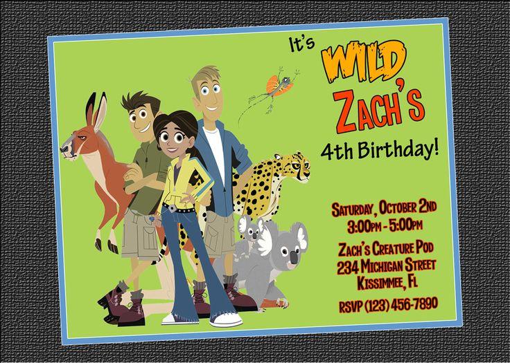 Wild Kratts Birthday Party Invitations was amazing invitations design