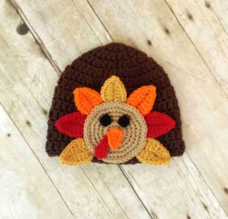 Crochet Baby Hat Pattern Super Bulky Yarn : Crochet Baby Turkey Hat Crochet Day! Pinterest