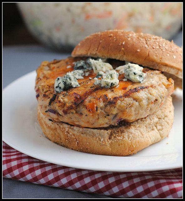 Buffalo Chicken Burgers #dinner #recipes | Recipes | Pinterest