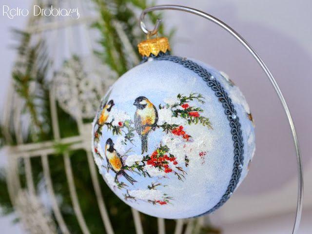 decoupage christmas decoration, christmas ball