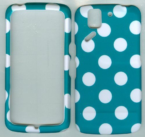 Polka Dot Hard Case Snap on Rubberized Cover for Pantech Flex P8010 ...