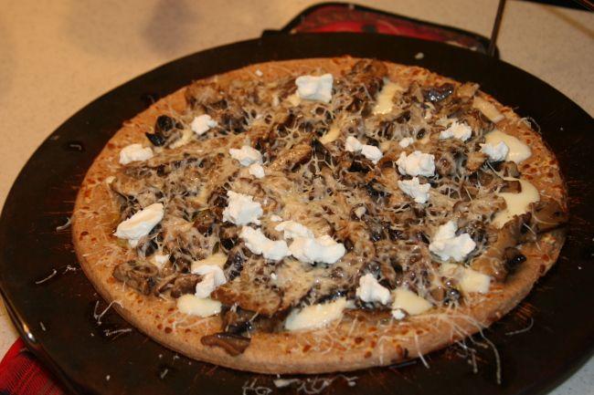 jalapeno pizza shiitake mushroom and gorgonzola pizza recipe myrecipes ...