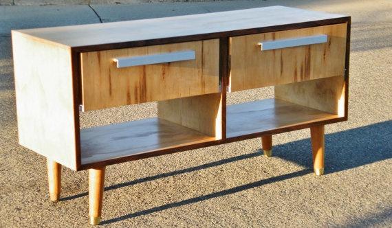 mid century modern tv stand. Black Bedroom Furniture Sets. Home Design Ideas