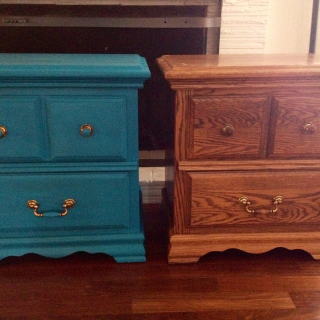 Upcycled Furniture. Add COLOR! | Organizing | Pinterest