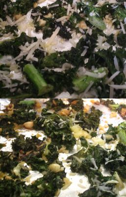 """Mon Amy: Baked Garlic Parmesan Kale """"Chips"""" -- Just made these! So ..."""
