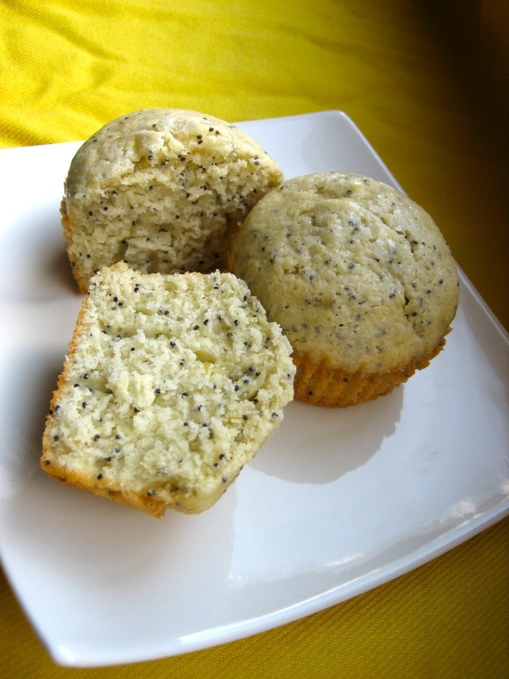 Lemon Poppy Seed Muffins - Father's day baking, but filled with cream ...