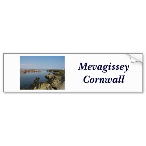 Comwall Design Decals : Mevagissey - Cornwall Stickers Bumper Stickers