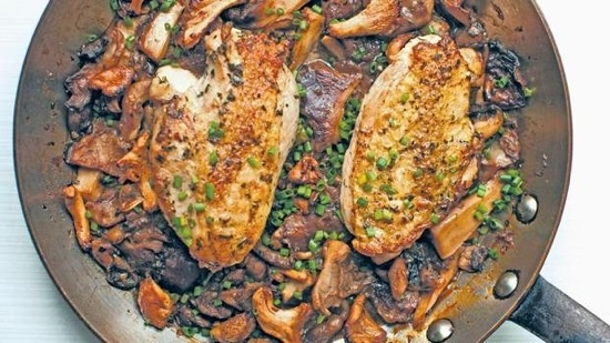 Pan-roasted chicken with mushrooms. | Recipes to try | Pinterest