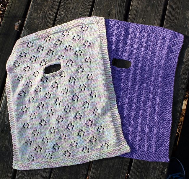 Knitting Pattern Car Blanket : Two Infant Car Seat Blankets to Knit pattern by Mary Beth Temple